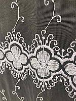 Фатиновая тюль с цветочной вышивкой, высота 2,8м ( 8Р7788 ), фото 5