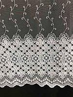 Фатиновая тюль с цветочной вышивкой, высота 2,8м ( 8Р7788 ), фото 6