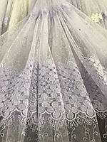 Фатиновая тюль с цветочной вышивкой, высота 2,8м ( 8Р7788 ), фото 8