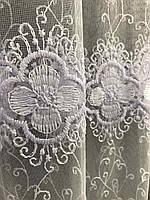 Фатиновая тюль с цветочной вышивкой, высота 2,8м ( 8Р7788 ), фото 4
