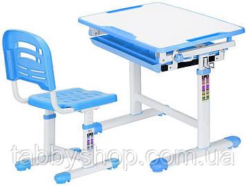 Комплект парта і стільчик Evo-Evo kids-06 Blue (стільниця біла/пластик блакитний)