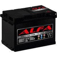Аккумулятор автомобильный ALFA 6СТ-75 АзЕ