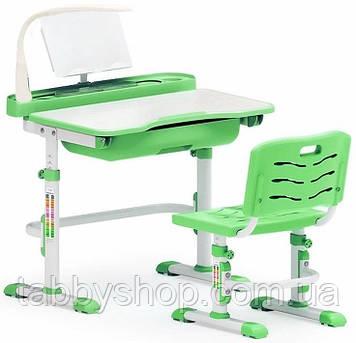 Комплект парта і стільчик Evo-Evo Kids-17 Green (з лампою)