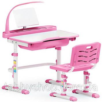 Комплект парта и стульчик Evo-Kids Evo-17 Pink (с лампой)