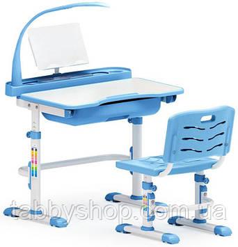 Комплект парта и стульчик Evo-Kids Evo-17 Blue (с лампой)