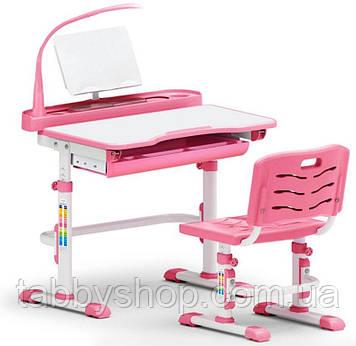 Комплект парта і стільчик Evo-Evo Kids-18 Pink з лампою