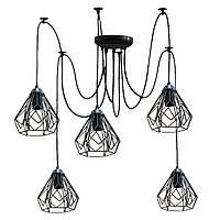 Люстра паук на пять плафонов NL 538-5  MSK Electric
