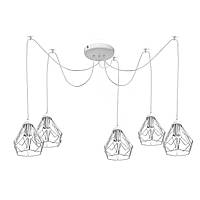 Люстра паук на пять плафонов NL 538-5 W  MSK Electric