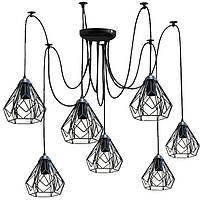 Люстра паук на семь плафонов  NL 538-7  MSK Electric
