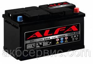 Акумулятор автомобільний ALFA 6СТ-100 АзЕ
