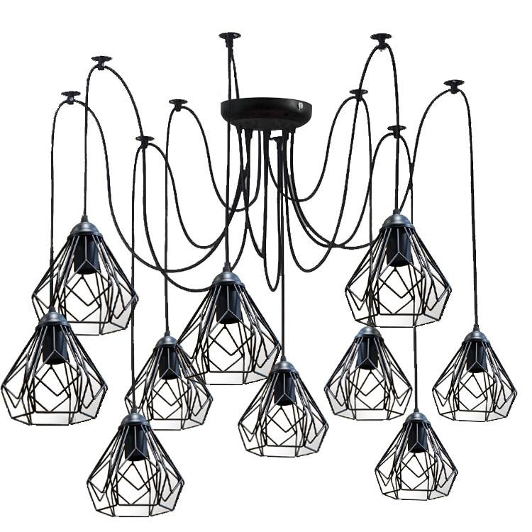 Люстра павук на десять плафонів NL 538-10 MSK Electric