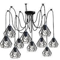Люстра паук на десять плафонов NL 538-10  MSK Electric
