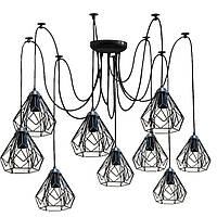 Люстра паук на девять плафонов NL 538-9  MSK Electric