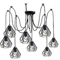 Люстра паук на восемь плафонов NL 538-8  MSK Electric