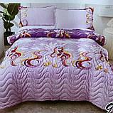 Покривало з наволочкою 50*70см, ковдра стьобана на ліжко або диван Koloco 160*210см Розмір Полуторний, фото 2