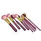 Набор кистей для макияжа в тубе, 9 шт, розово-перламутровые. Качественные кисти для макияжа., фото 3