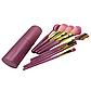 Набор кистей для макияжа в тубе, 9 шт, розово-перламутровые. Качественные кисти для макияжа., фото 4