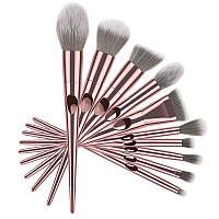 Профессиональный набор кистей для макияжа, 10 шт. Кисти для макияжа из высококачественного ворса Rosi Gold