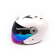 Шлем открытый HF-210 (size: S, белый, тонированное стекло) Mototech