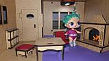 Ляльковий будиночок для ляльки Лол бежевий + Меблі в ПОДАРУНОК! 30см × 23см, фото 3