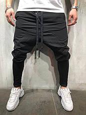 Спортивные штаны мужские стильные, цвета: чёрный, серый, красный, фото 2