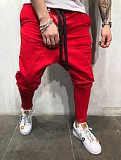 Спортивные штаны мужские стильные, цвета: чёрный, серый, красный, фото 3