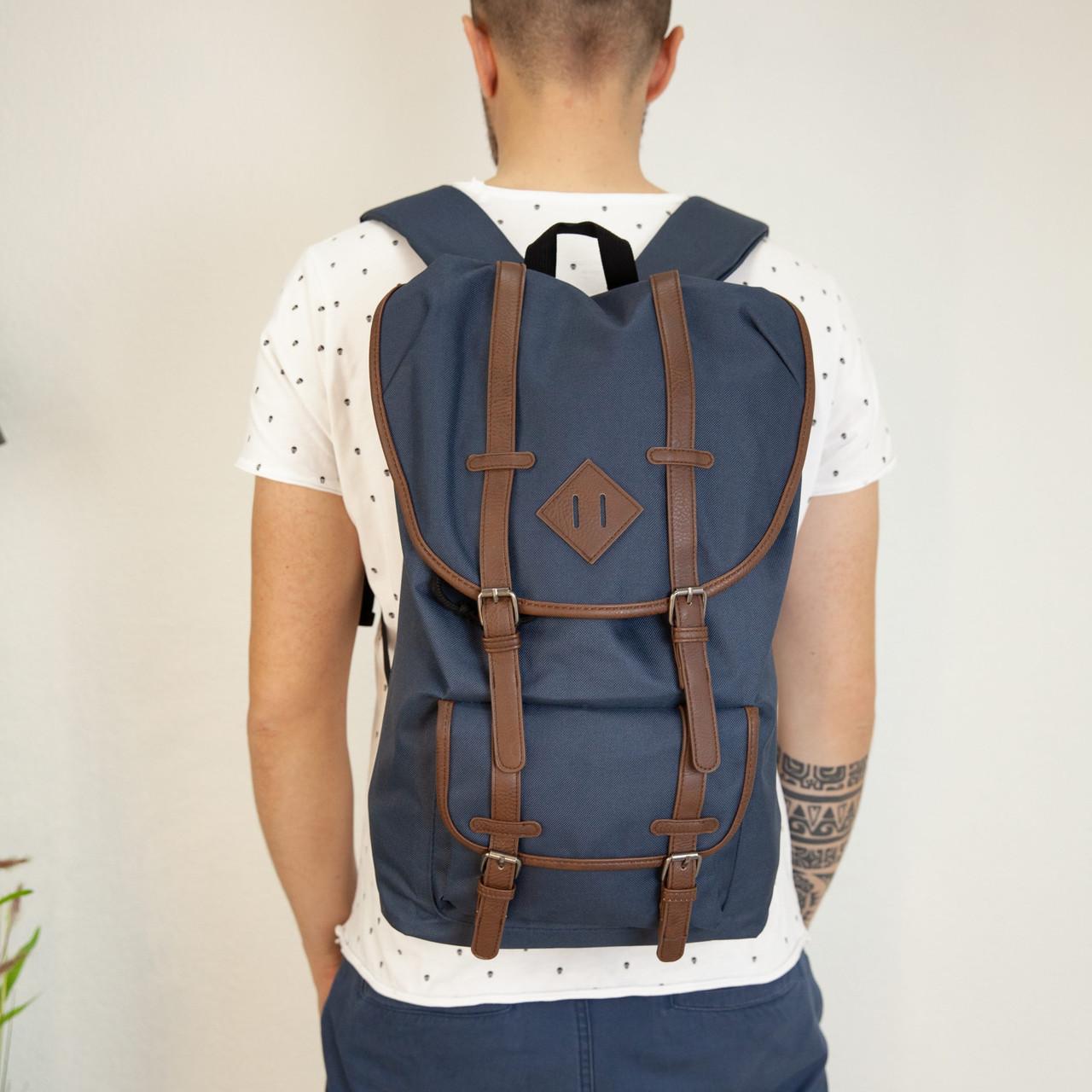 Темно-синій чоловічий рюкзак