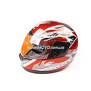 Шлем закрытый WLT-106 (size: S, красный) MotoTech