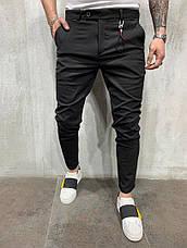 Брюки мужские стильные зауженные, цвета: серый, чёрный, фото 3