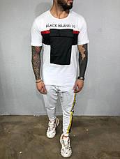 Літній чоловічий костюм Black island штани+футболка різні кольори, фото 3