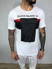 Літній чоловічий костюм Black island штани+футболка різні кольори, фото 2