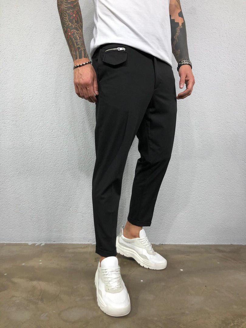 Штани чоловічі стильні чорні