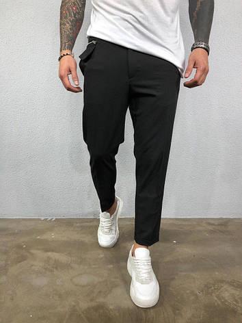 Штани чоловічі стильні чорні, фото 2