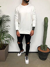 Крутейший мужской лонгслив однотонный, цвета: чёрный, серый, белый, фото 3