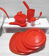 Набір пластикового посуду для пікніка 6 персон 48 предметів