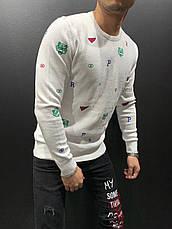 Крутейший мужской свитшот , цвета:белый, серый, чёрный, красный, фото 2