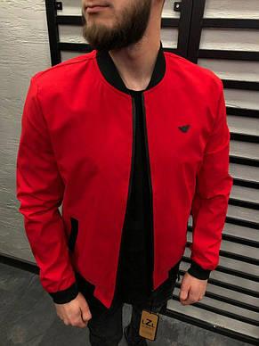 Бомбер мужской красный ЕА, фото 2