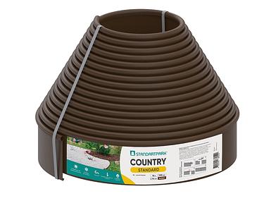 Бордюрная лента - бордюр Кантри Лайн Б-1500.10.2-ПП коричневая