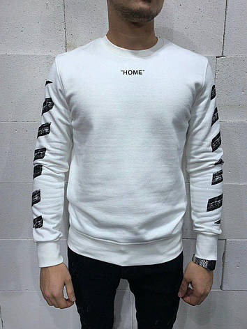 Толстовка худі чоловіча OFF WHITE біла з принтом ОФФ ВАЙТ, фото 2