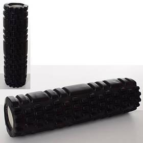 Массажный ролик (рулон) для йоги. Размер 30*8,5 см. Цвет черный