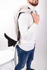 Куртка пиджак мужская вельветовая чёрная на меху стильная, фото 2