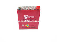 Аккумулятор 7A 12V (YTX7A-BS) MOTOTECH гелевый высокий 110x67x132