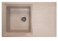 Мойка кухонная HAIBA раковина гранитная прямоугольная с крылом врезная поворотная HB8104-G319 SAND 780x500x200