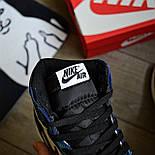 Чоловічі кросівки Nike Air Jordan 1 Retro High 1 'Tie-Dye' голубі осінь-весна. Живе фото. Репліка, фото 8