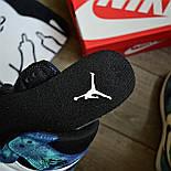Чоловічі кросівки Nike Air Jordan 1 Retro High 1 'Tie-Dye' голубі осінь-весна. Живе фото. Репліка, фото 9