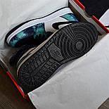 Чоловічі кросівки Nike Air Jordan 1 Retro High 1 'Tie-Dye' голубі осінь-весна. Живе фото. Репліка, фото 2