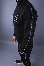 Спортивный костюм мужской чёрный стильный Турция, фото 2