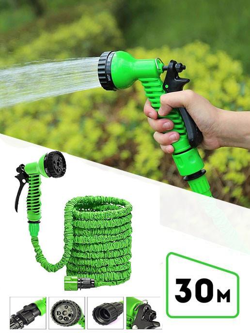 Шланг поливочный растягивающийся MAGIC HOSE 30м/100ft Зеленый