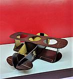 """Піднос-органайзер для пива """"Літак"""" з гравіюванням 30х31х8см, фото 2"""