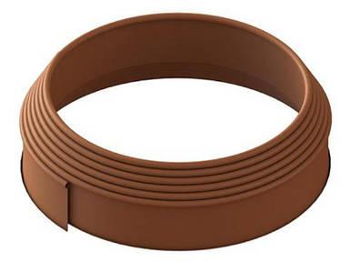 Бордюрная лента (бордюр) Кантри Лайн Б-900.10.2-ПП коричневая